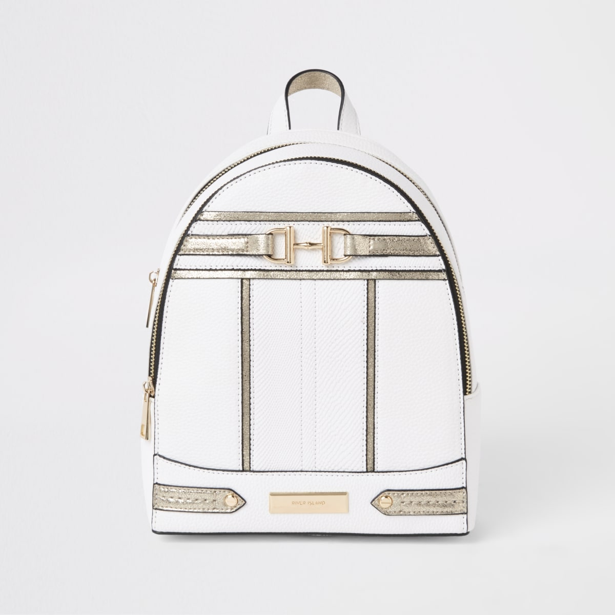 White snaffle front backpack