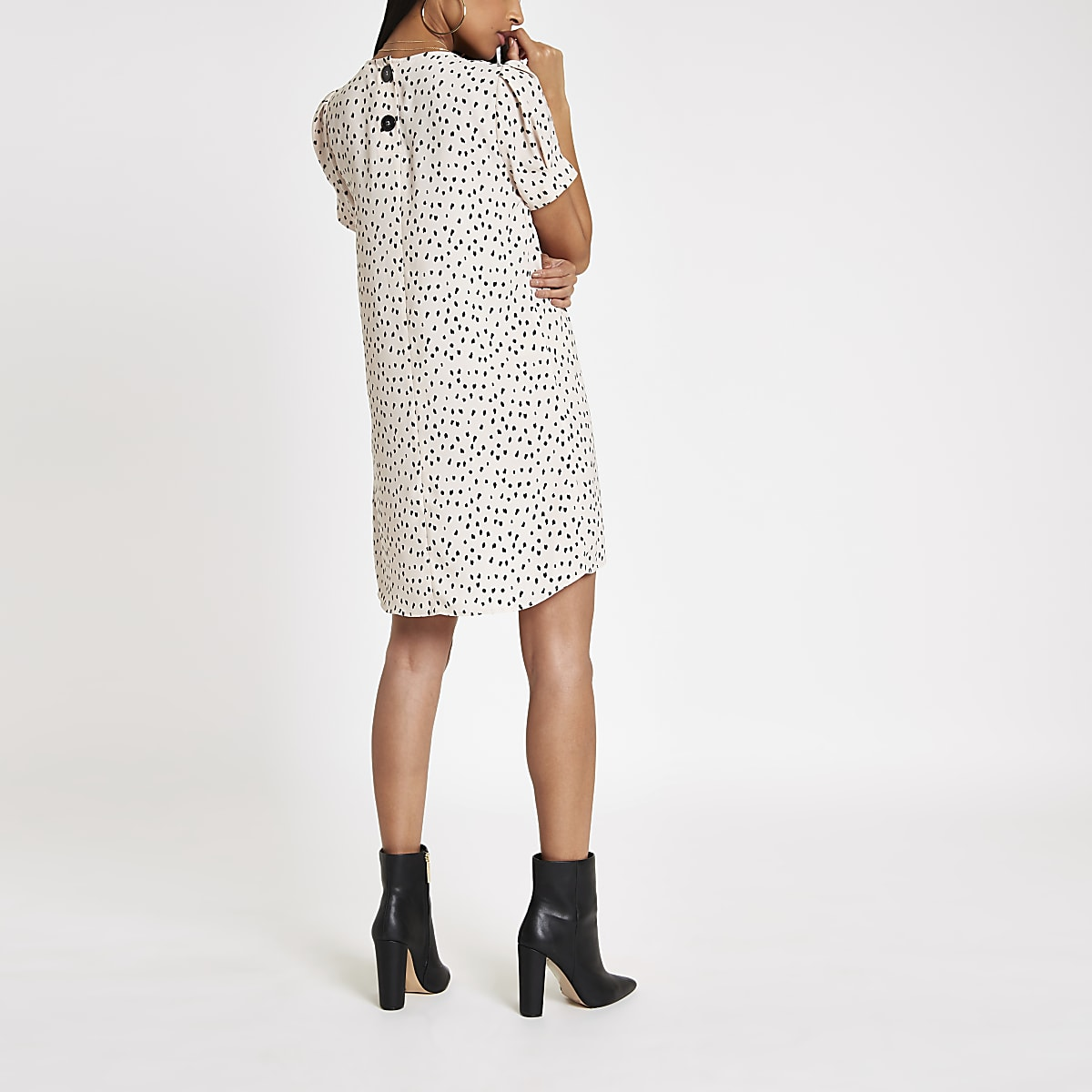6326f857893 White leopard print swing dress - Swing Dresses - Dresses - women