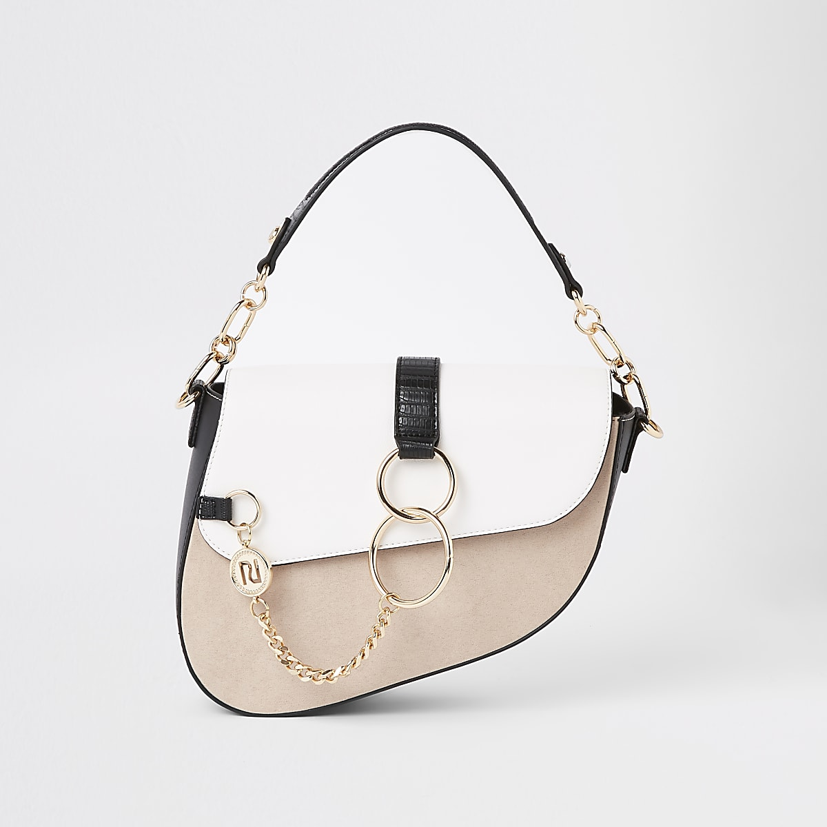 Light beige underarm saddle bag