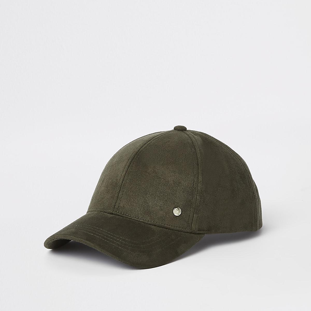 a1b3f1a53f99 Khaki faux suede baseball cap - Hats - Accessories - women