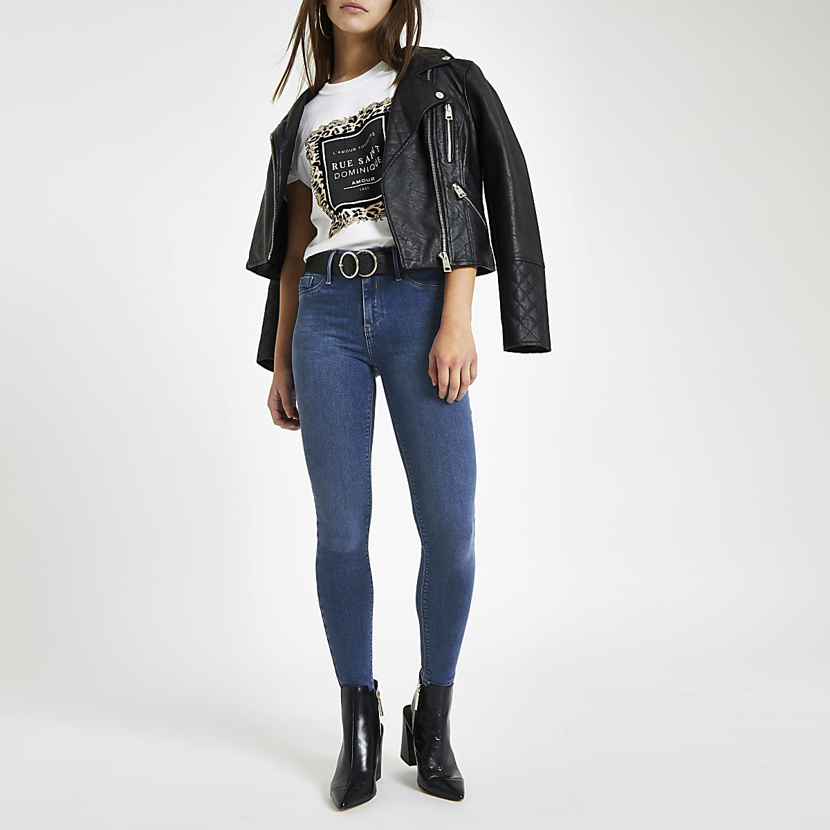 RI Petite - Molly - Lichtblauwe jegging met halfhoge taille