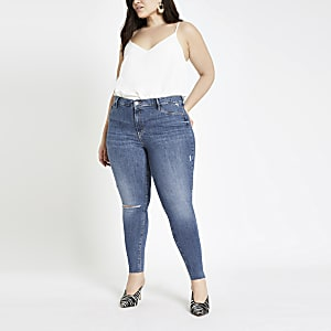 Plus – Molly – Jegging bleu moyen