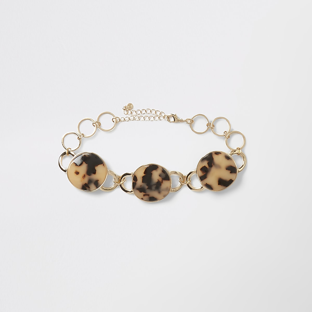 Brown tortoise shell layered necklace