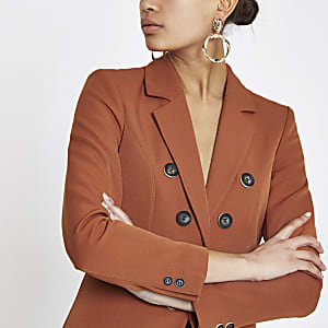 Copper button front blazer
