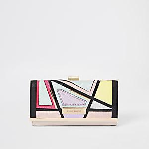 Light pink cut out cliptop purse