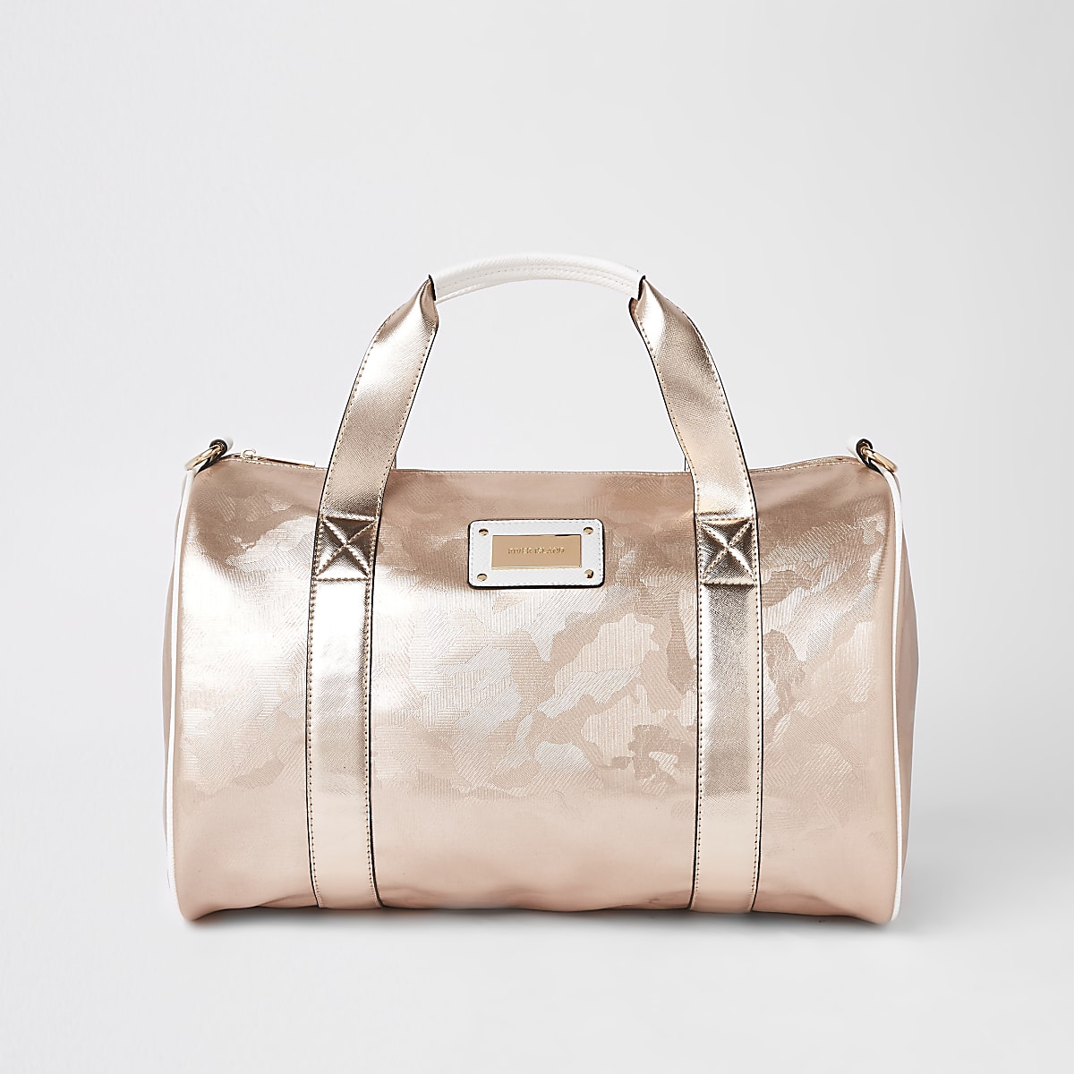 Rose Gold Camo Large Duffle Weekend Bag Suitcases Bags