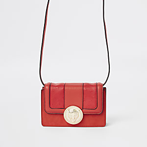 Red jaguar mini cross body bag