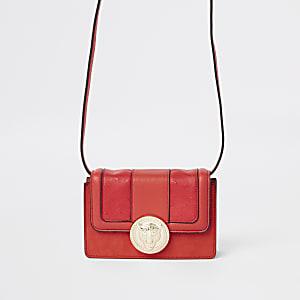 Petit sac à bandoulière motif jaguar rouge
