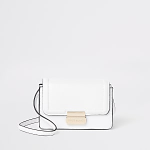 Witte mini crossbodytas