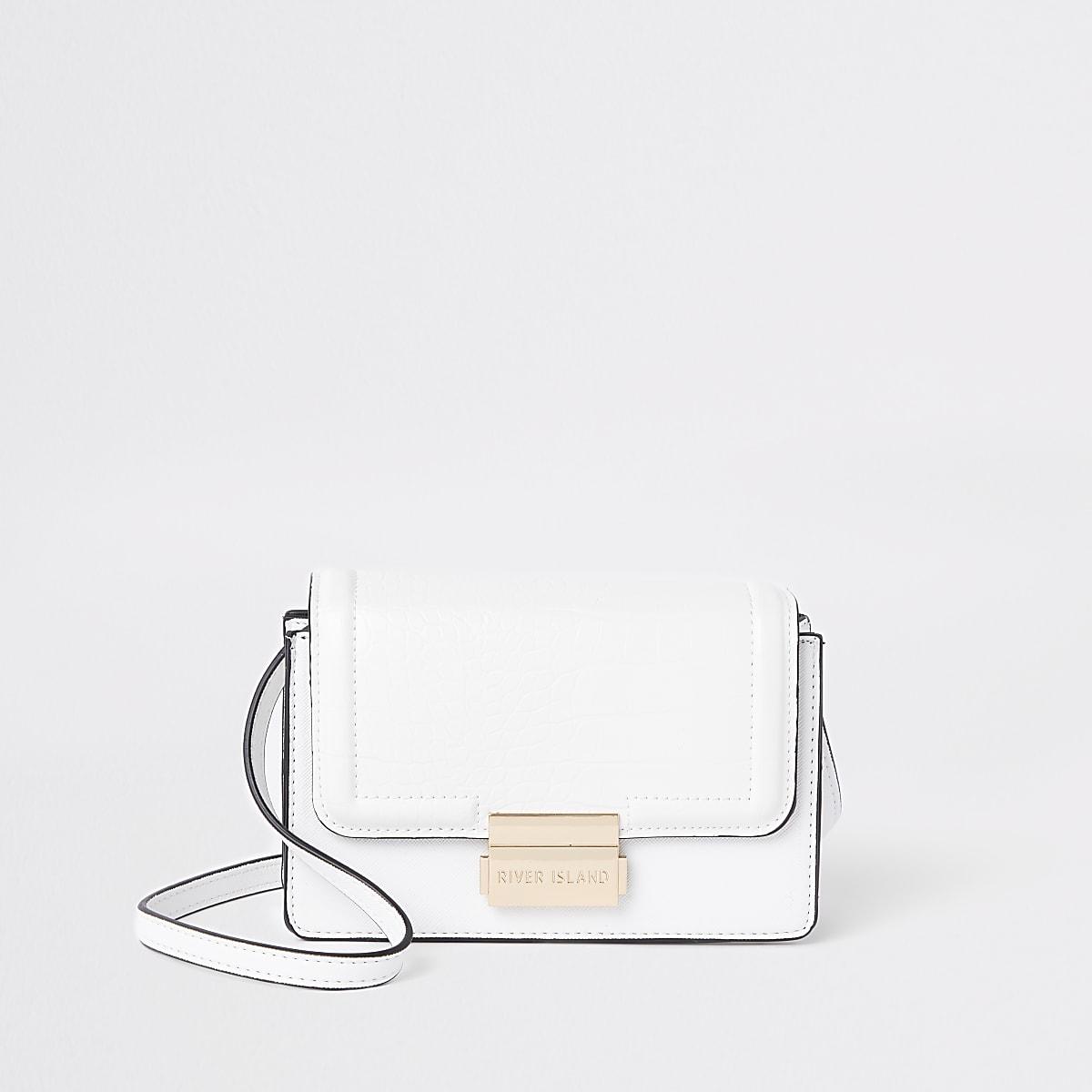 White mini cross body bag