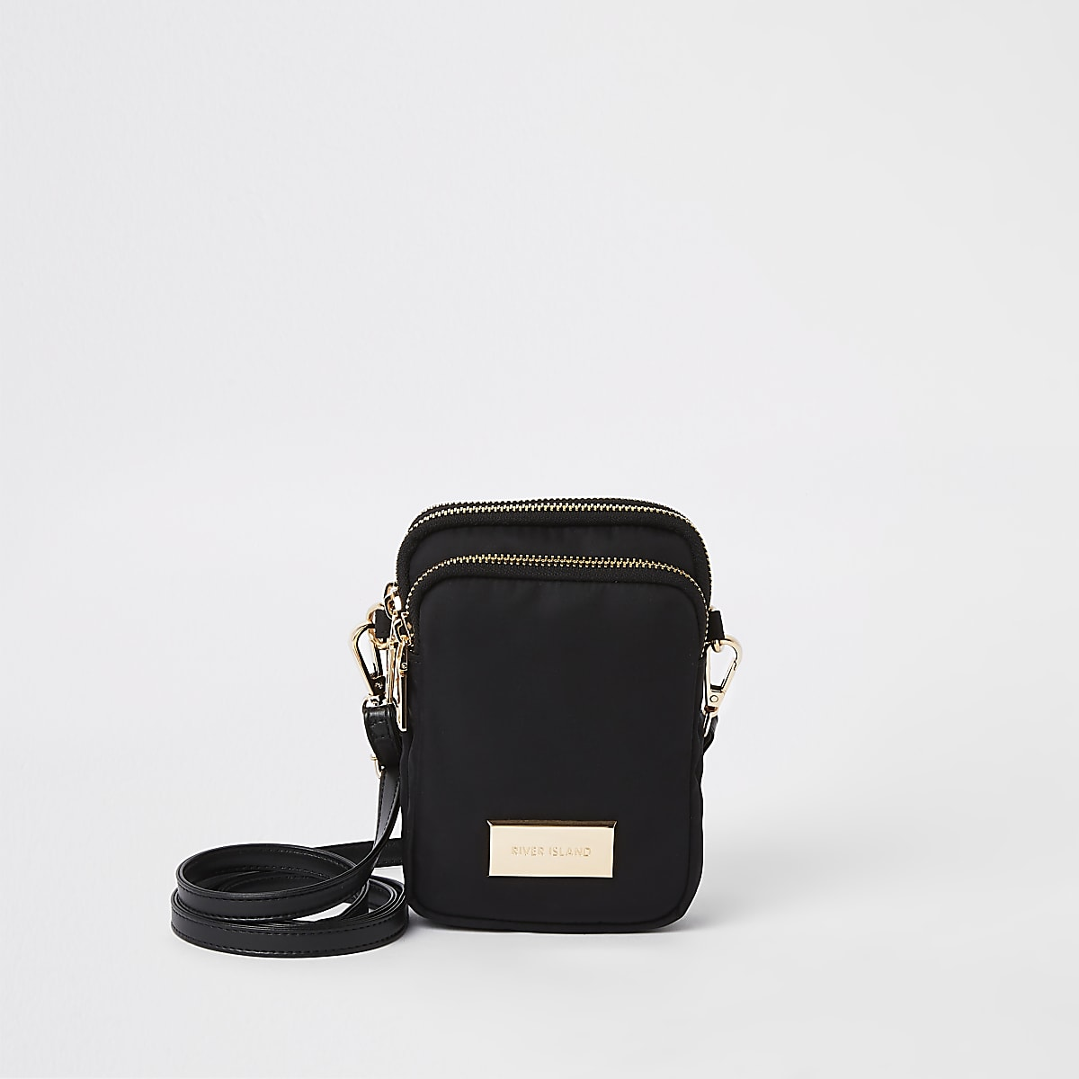 Black mini pouch cross body bag