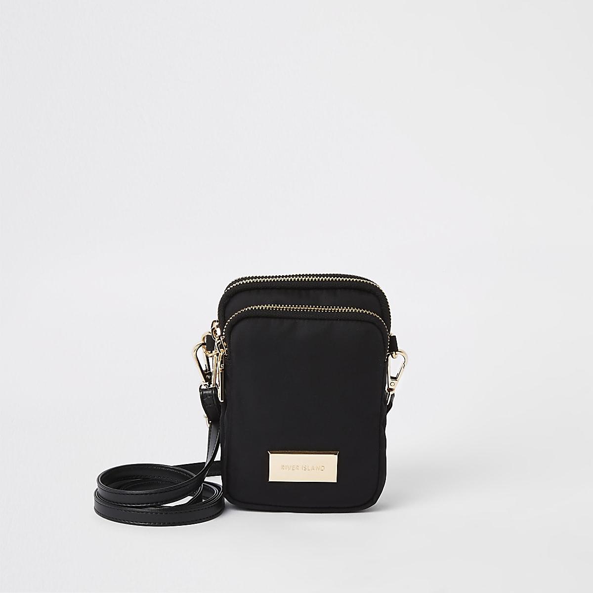 Black mini pouch cross body bag