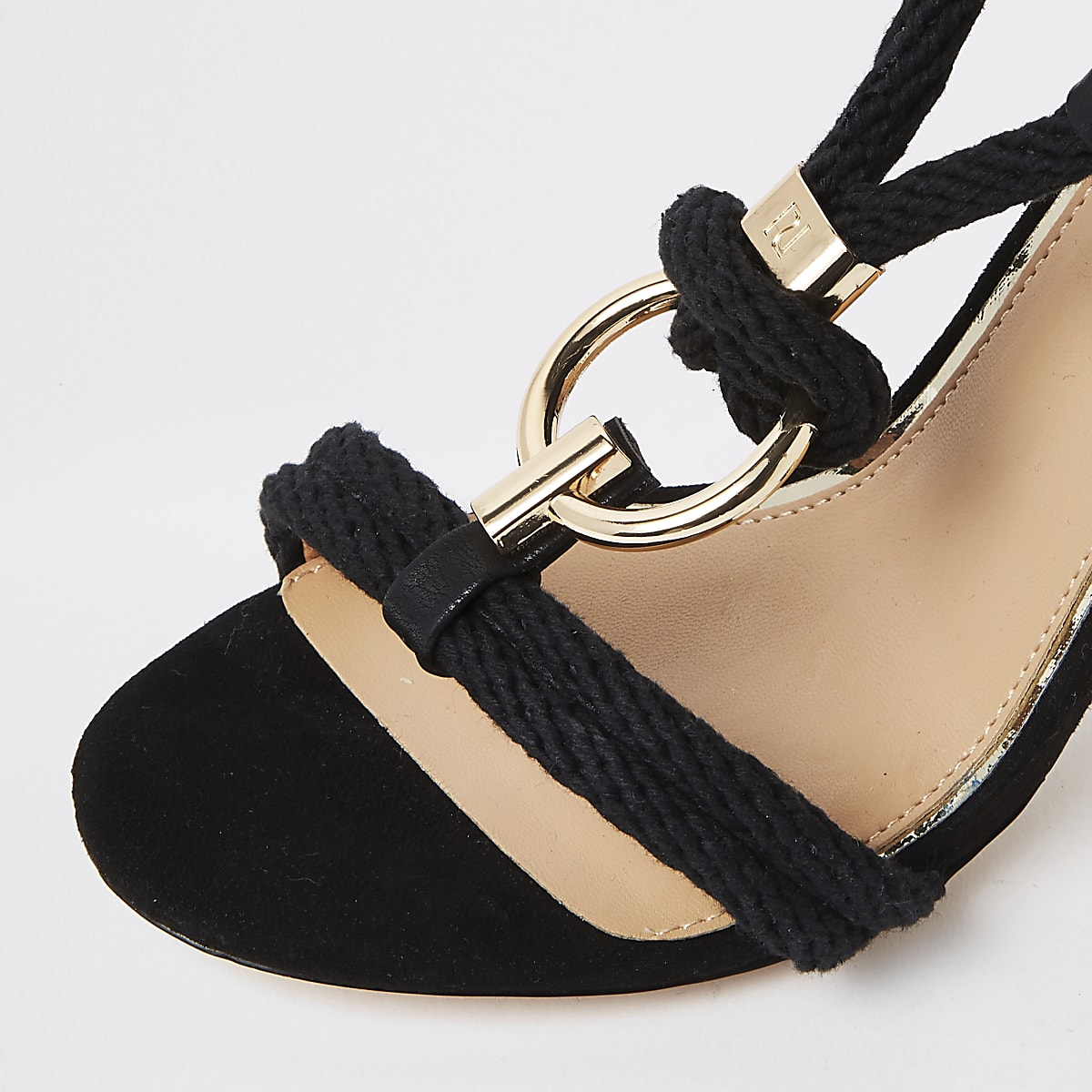 05db1de7ad7 Black rope ring stiletto heel sandals - Sandals - Shoes   Boots - women