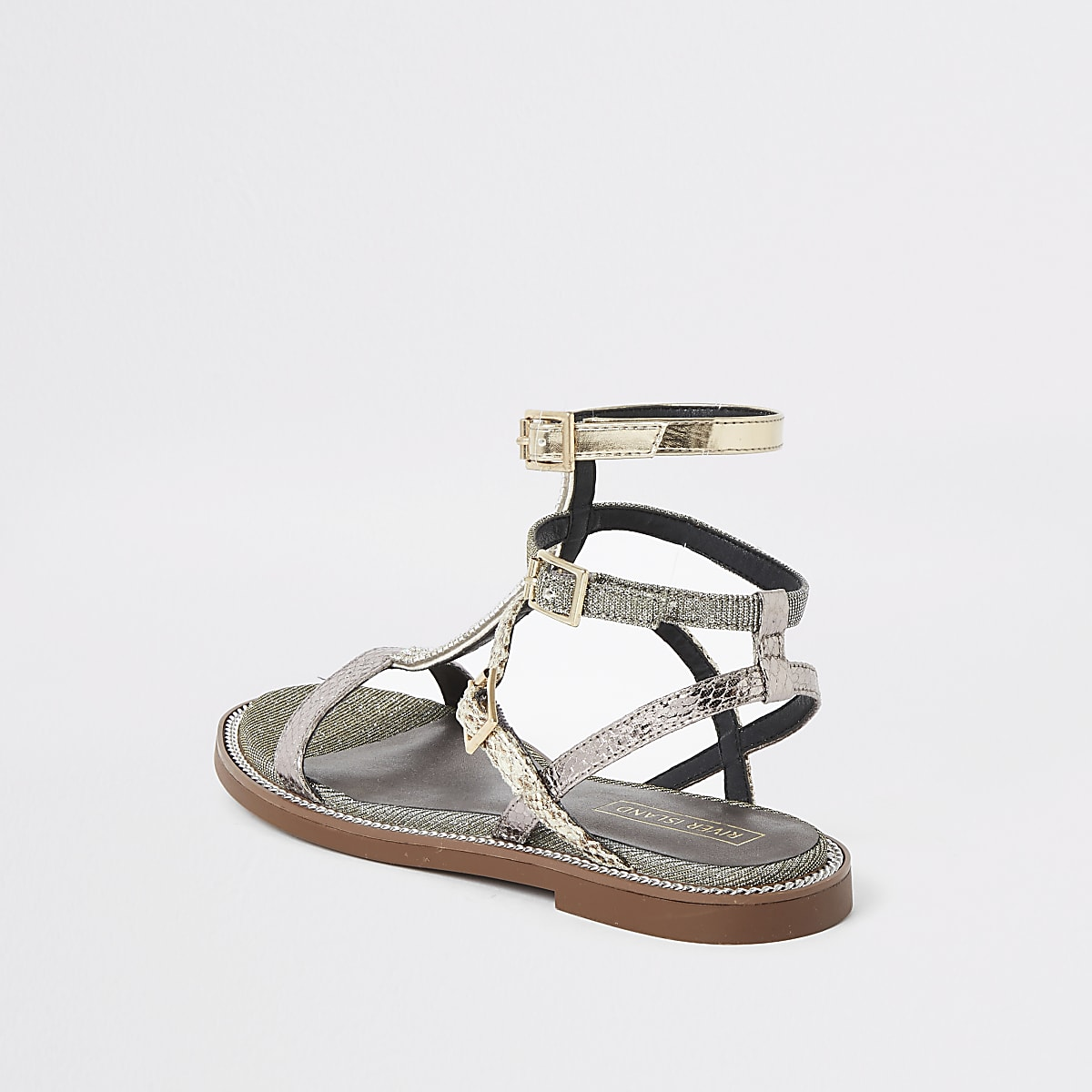 61e70d6e5ff6 Silver pearl wide fit gladiator sandals - Sandals - Shoes   Boots ...