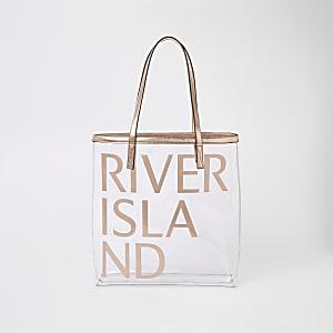 Goldfarbene Strandtasche