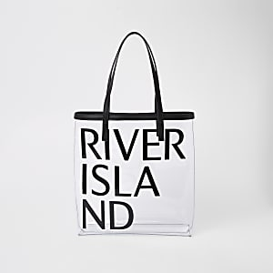 Black perspex beach bag