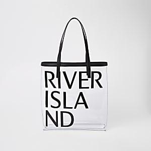 Black perspex beach bag