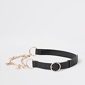 Black patent chain belt