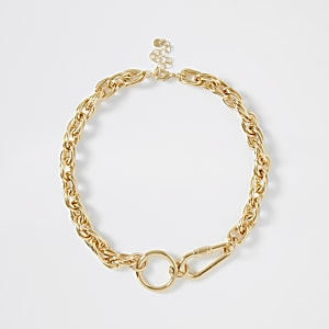 Grobe Halskette in Gold