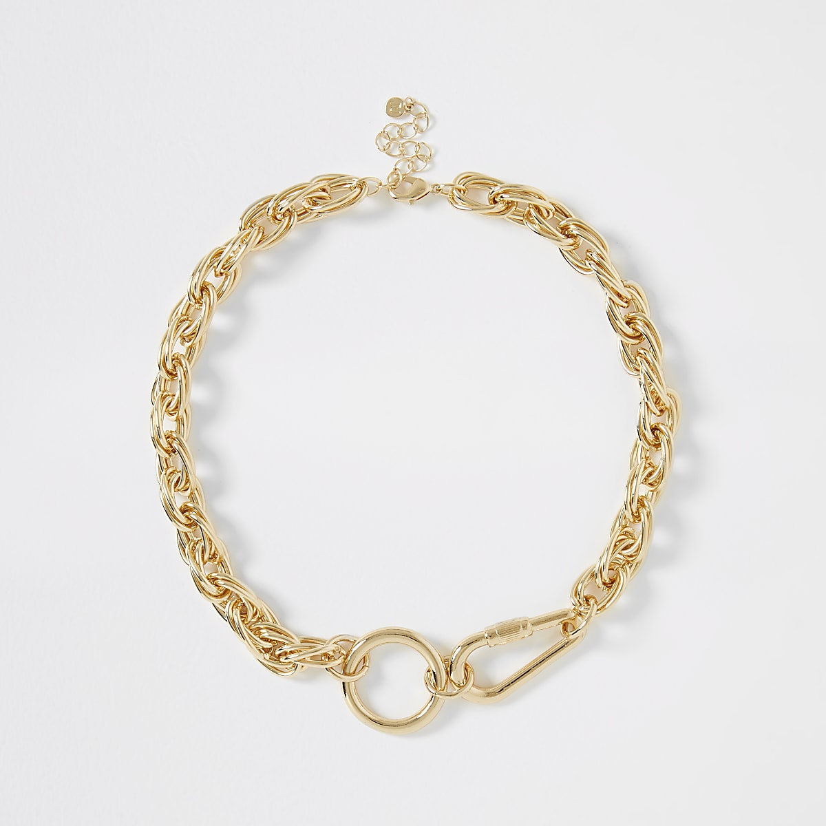 Gold colour chunky rope necklace