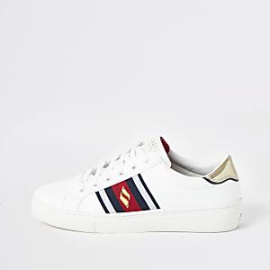 Skechers – Goldie – Weiße Sneaker mit Streifen