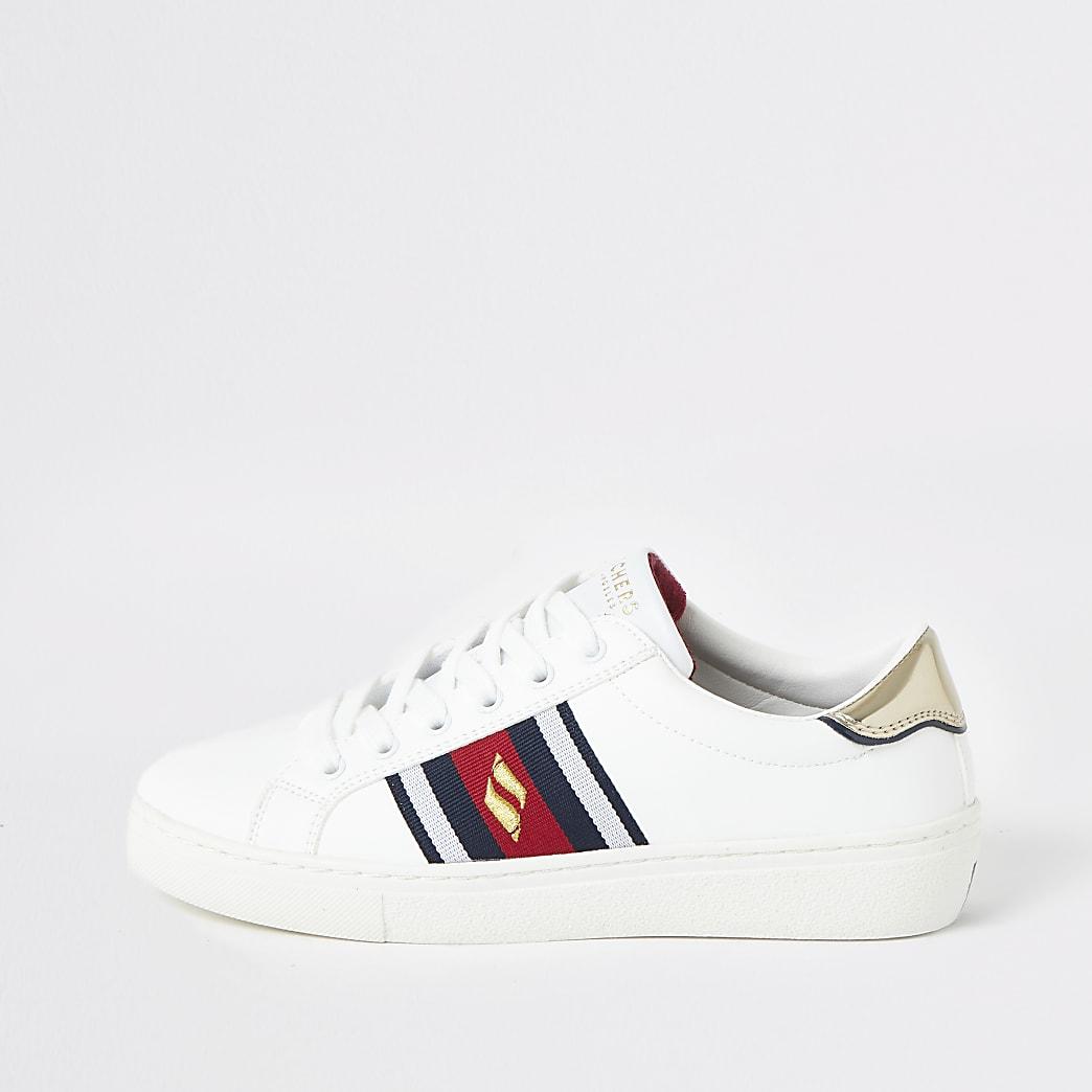 Skechers - Goldie - Witte gestreepte sneakers