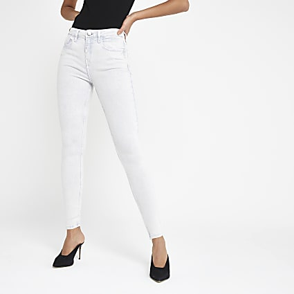 Light grey Amelie super skinny jeans