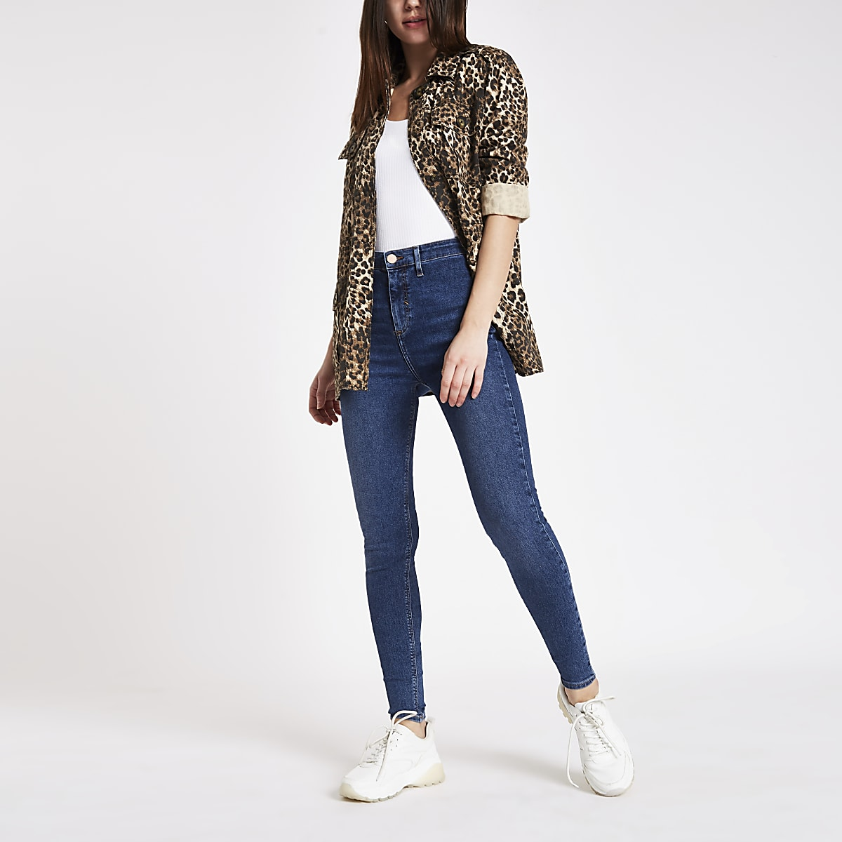 Dark blue Kaia high rise disco jeans