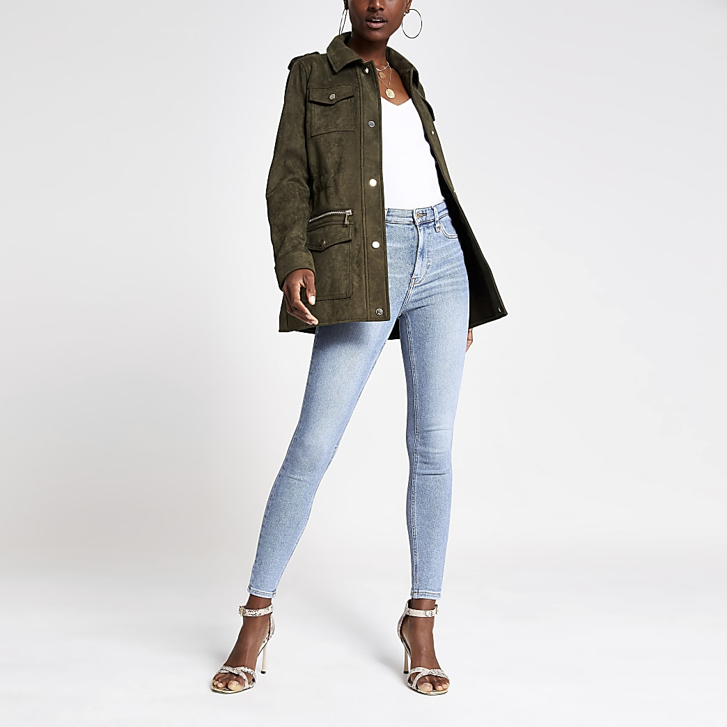 Light blue Hailey high rise jeans