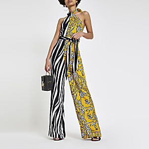 Forever Unique - Jumpsuit met zebraprint