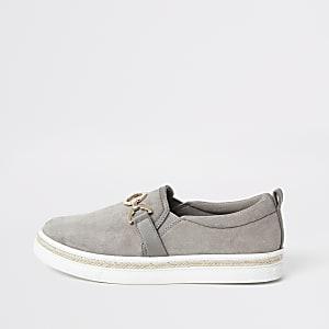 Grijze slip-on sneakers