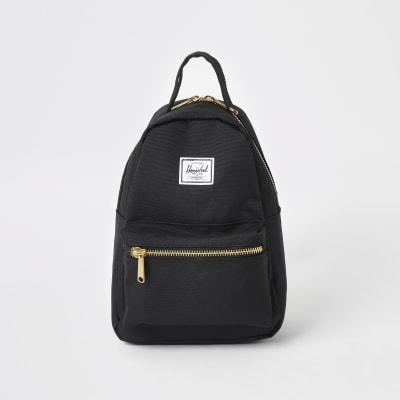 Herschel Black Nova Backpack by River Island