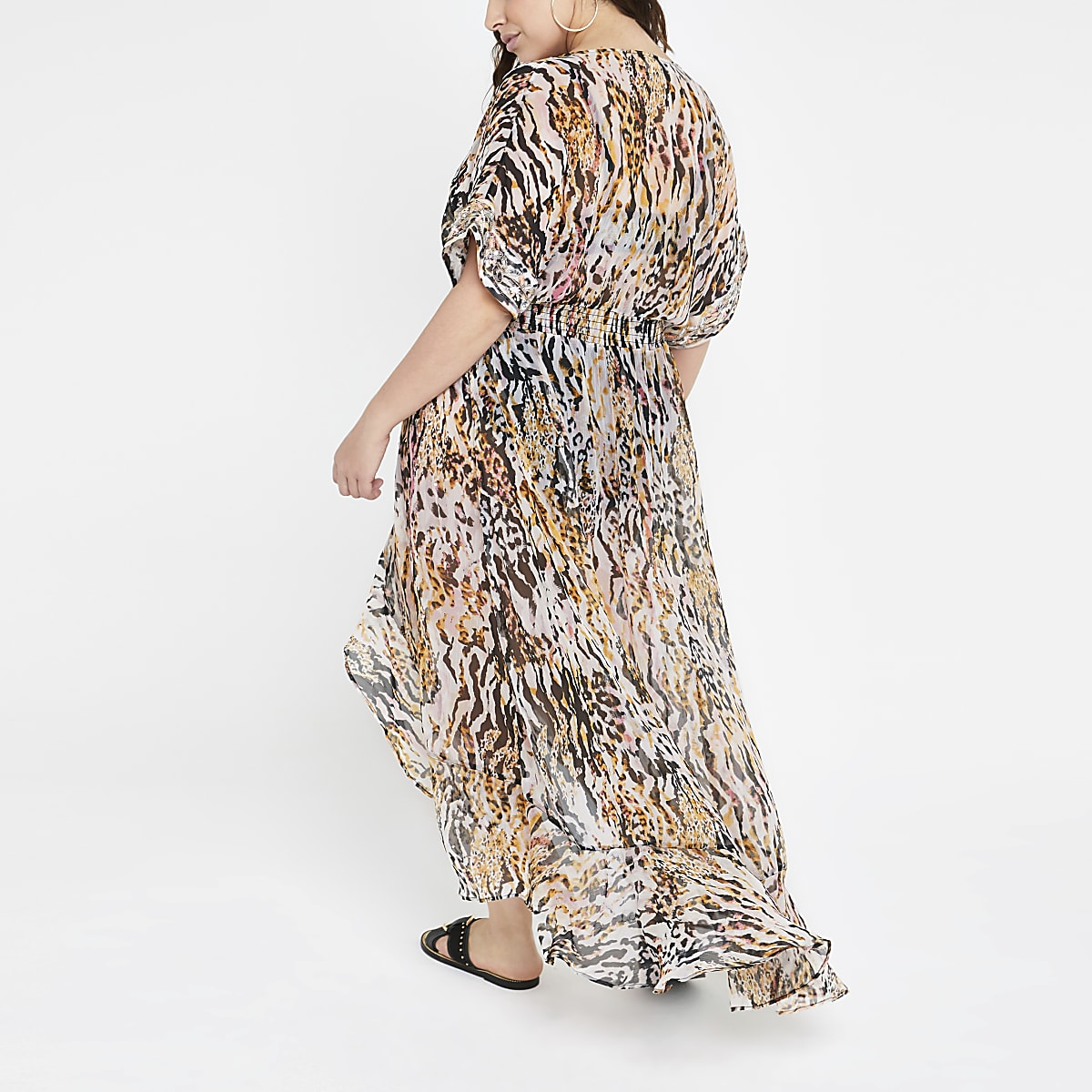 cf1670e1fd Plus brown animal print beach dress - Kaftans & Beach Cover-Ups ...