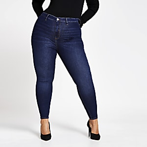 Plus blue Kaia high rise disco jeans