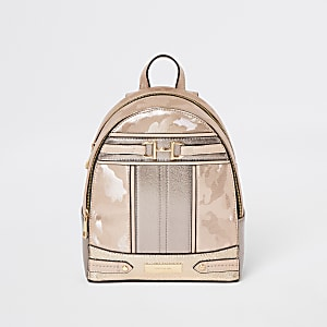 Rose gold snaffle front backpack
