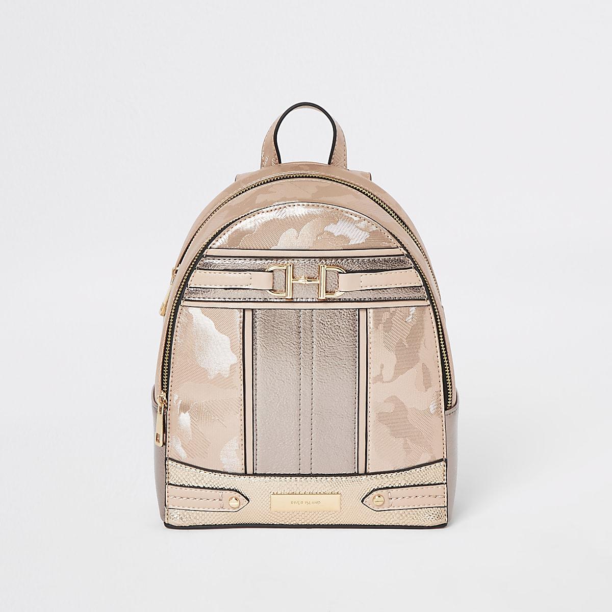 nouveau produit 800d3 3472a Rose gold snaffle front backpack