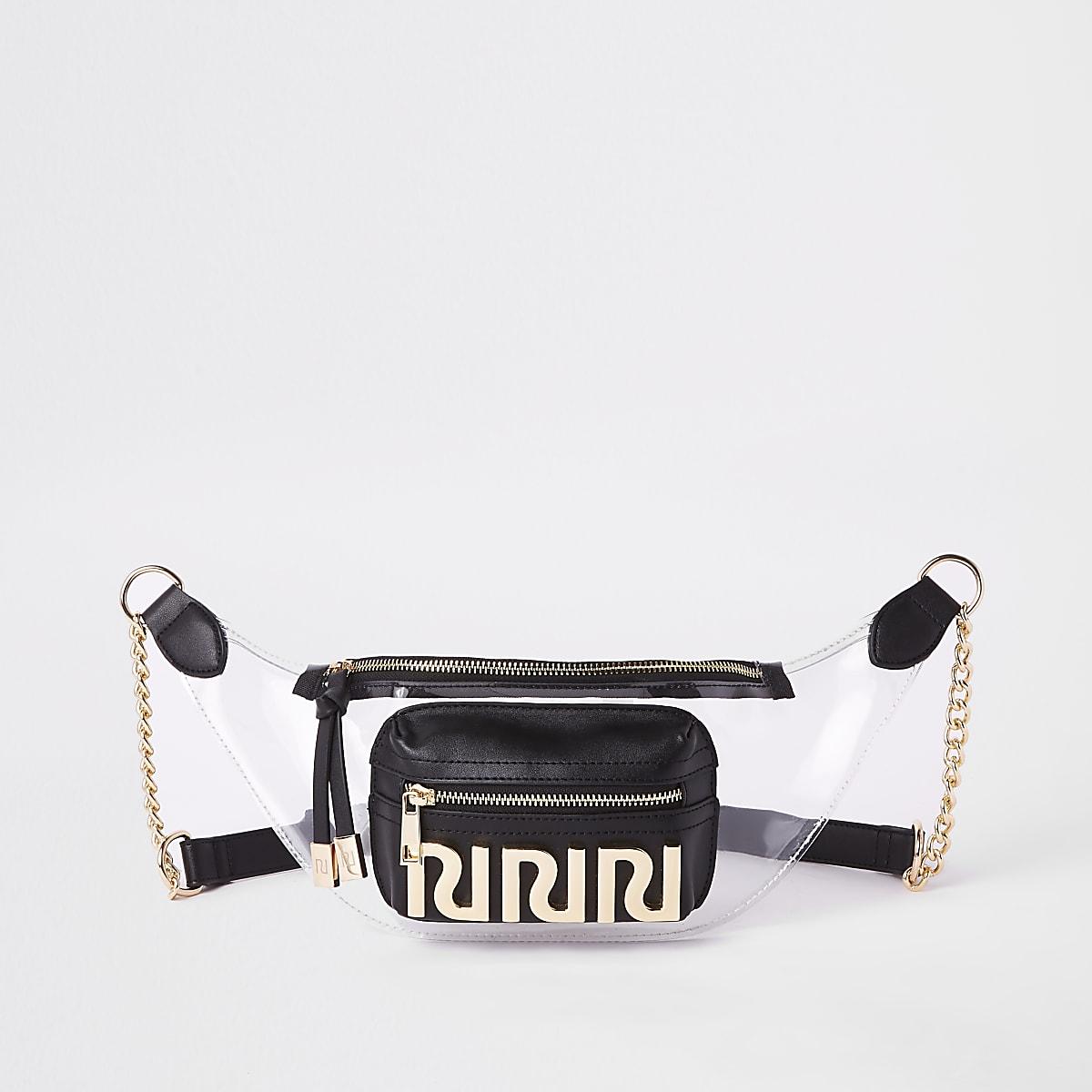 Black perspex RI belt bag
