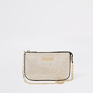 Gold glitter underarm mini bag