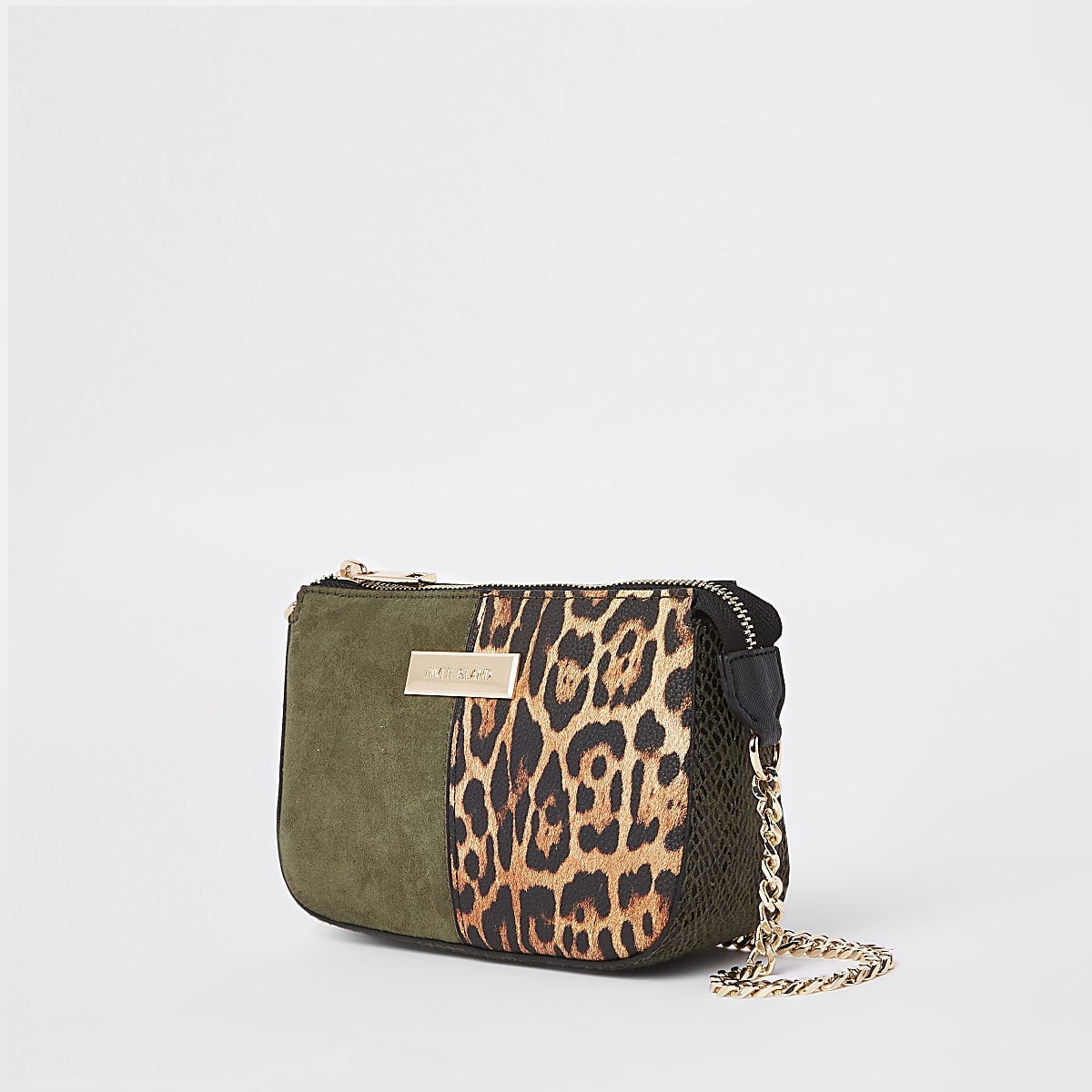 Khaki green underarm mini bag