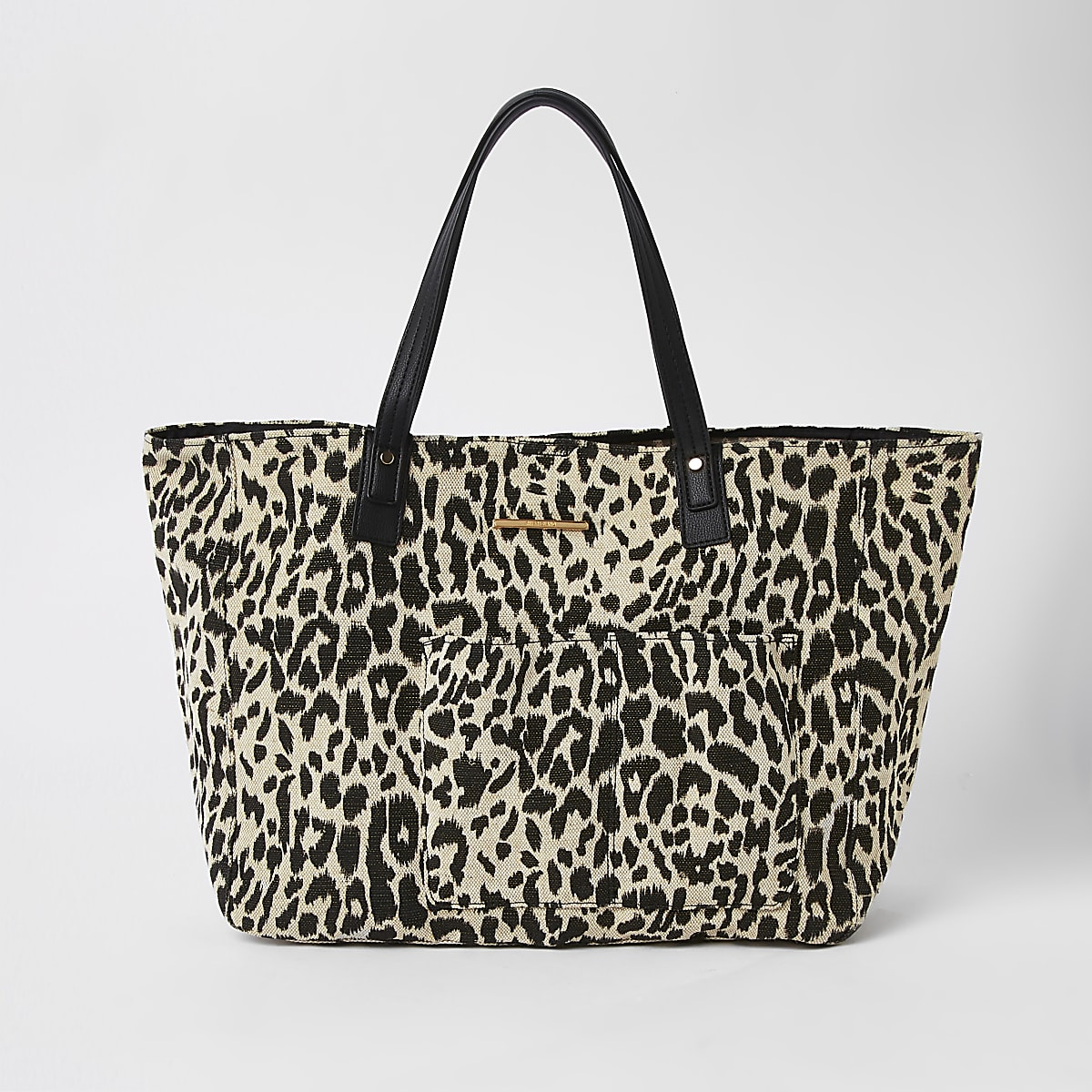 c82d9ec07 White leopard print beach tote bag - Shopper & Tote Bags - Bags & Purses -  women
