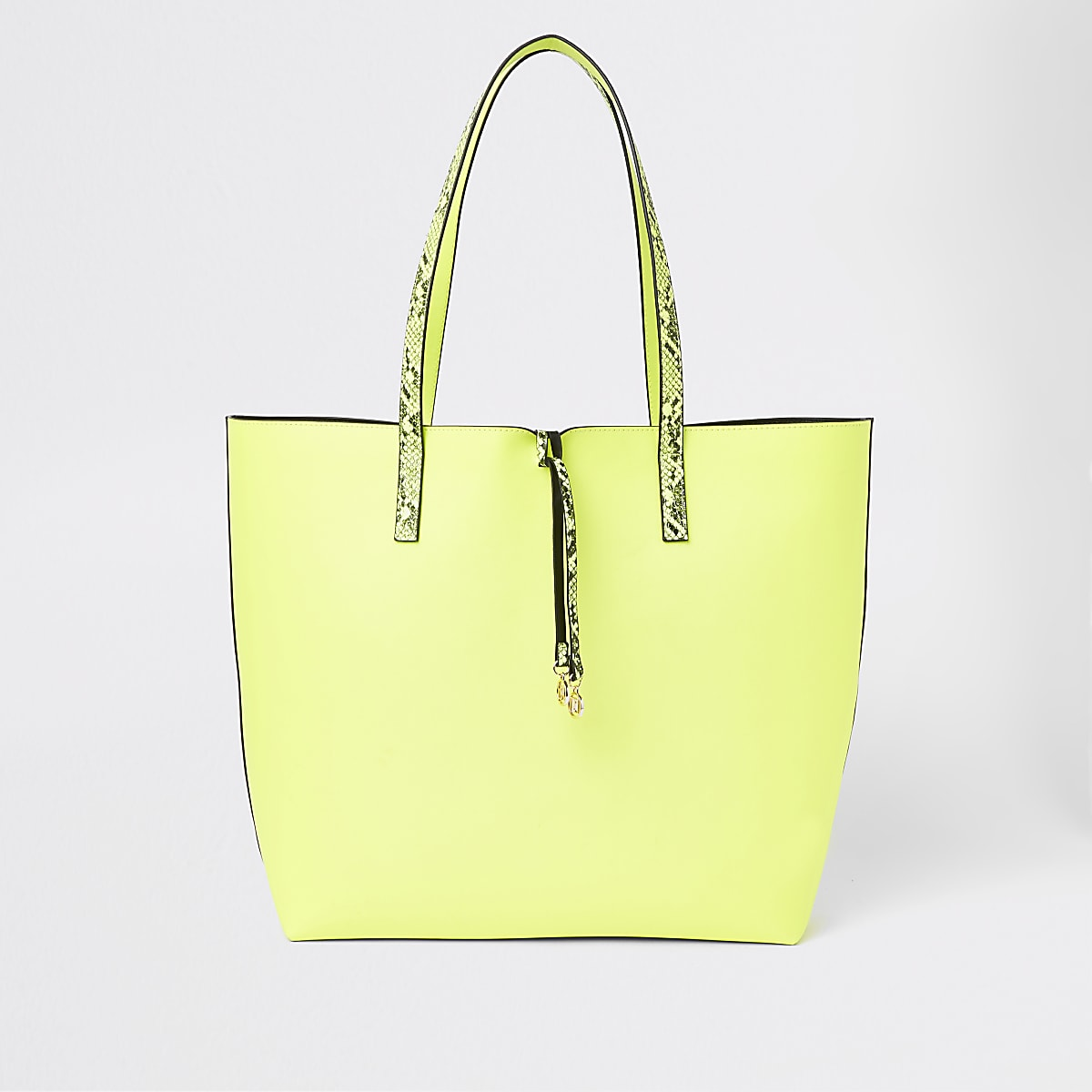 Neon yellow beach bag