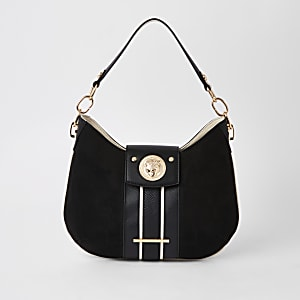 Black jaguar slouch under arm bag