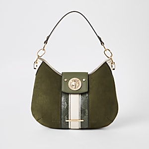 Khaki jaguar slouch under arm bag