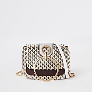 Gold woven ring front cross body bag
