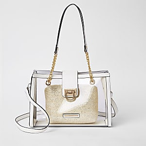 White Perspex tote bag