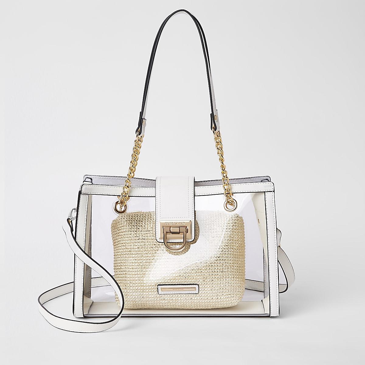White Perspex tote bag