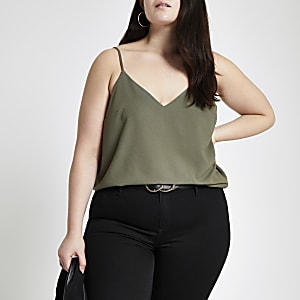 Plus – Trägertop in Khaki