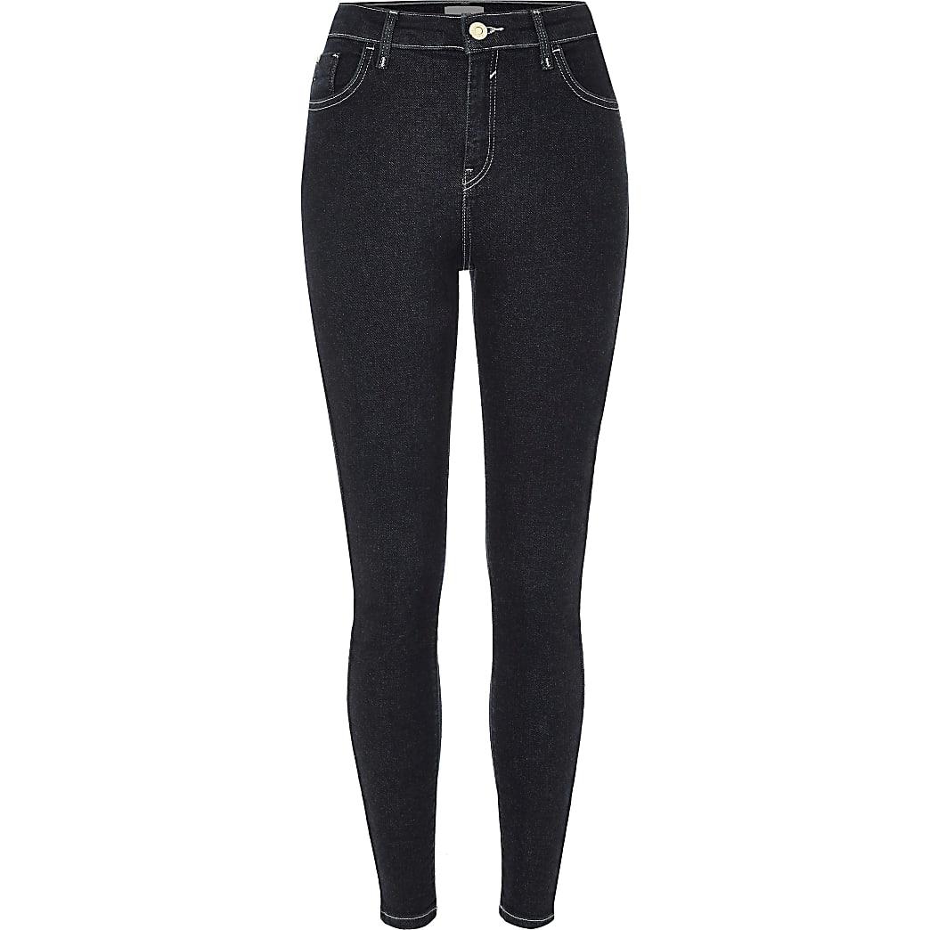 Amelie - Skinny jeans van donker denim