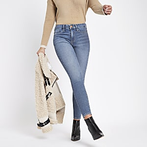 Dark blue denim Molly mid rise jeggings