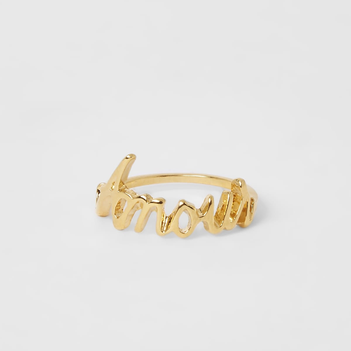 Gold color 'Amour' ring